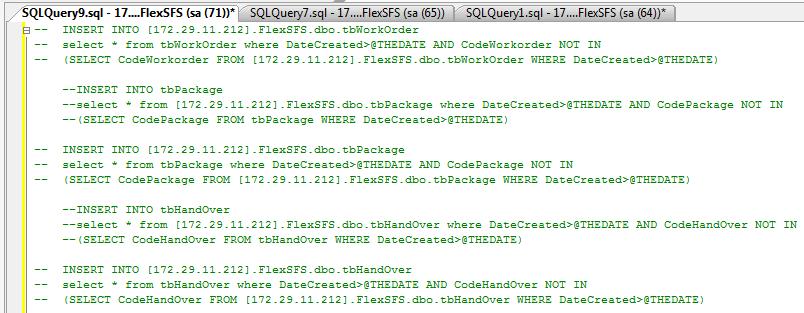 同步MSSQL数据